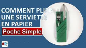 Pliage Serviette Papier Poinsettia by Comment Plier Une Serviette En Papier Poche Simple Decoration