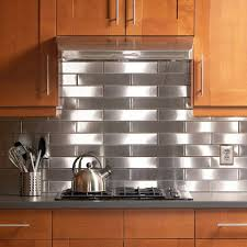 Stainless Steel Backsplash Kitchen by Home Design Kitchen Unique Decorating Stainless Steel