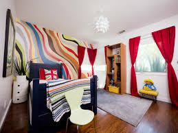 Boys Rug Bedroom Orange Wall Green Yellow Wallmount Shelves Plaid Armoire