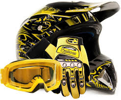 motocross helmet goggles motocross helmet with gloves and goggles yellow dirt bike mx