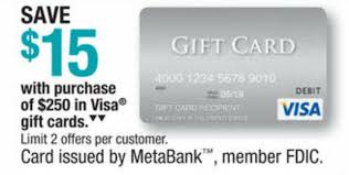 15 gift cards officemax 15 250 in visa gift cards frequent miler