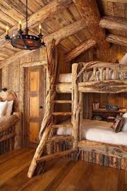 Log Bunk Bed Plans The Flannel The Walls Put This In A Room With A