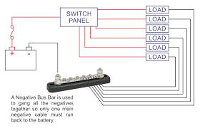 marine bus bar 150a rated common negative bus bar for boat
