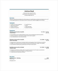 Marketing Executive Resume Sample by Marketing Resume Examples 47 Free Word Pdf Documents Download