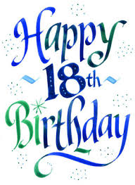 happy 18th birthday blue 18th birthday bl cards and ideas for
