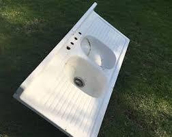Porcelain Sink Etsy - Enamel kitchen sink