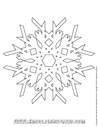snowflake outline coloring u0026 coloring pages