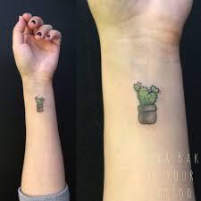 so cute minimalist cactus tattoo by kyra bak be your tattoo studio