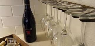 how to make a rustic rake wine glass holder
