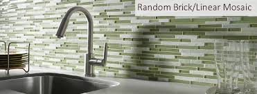 BrickLinear Glass Glass Tile BacksplashBathroom Discount - Linear tile backsplash