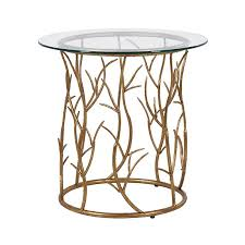 Gold Side Table Gold Vine Circular Side Table Contemporary Gold Side Tables