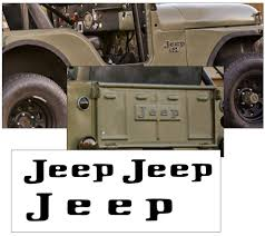 1976 jeep j10 short bed graphic express 1945 75 jeep 4 wheel drive tailgate decal or