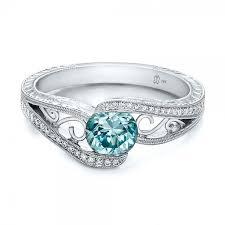 zircon engagement rings custom blue zircon and engagement ring joseph jewelry
