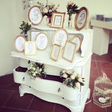 Shabby Chic Table by Tableau De Mariage Shabby Chic Table Plan White Frame Cornici