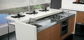 ilot cuisine avec table coulissante l îlot central la de la cuisine ilot central cuisine
