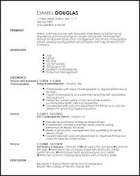 Ballet Resume Sample by Free Creative Dancer Resume Template Resumenow
