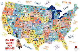 United States Map Game by Quest For Heroes I Spy Game