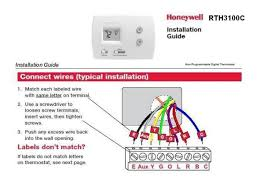 honeywell thermostat wiring diagram blue wire air conditioner