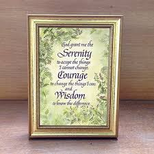 serenity prayer picture frame serenity prayer