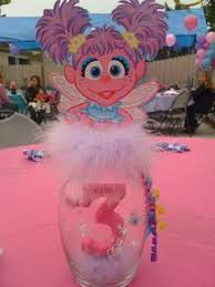Elmo Centerpieces Ideas by Abby Caddaby Centerpiece For Less Than 5 00 Party Decor