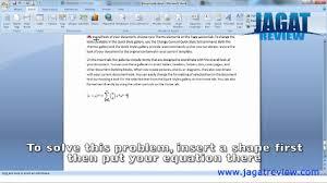 microsoft word 2007 insert equation