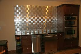 kitchen peel and stick metal tiles backsplash for kitchen metallic
