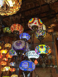 Large Moroccan Chandelier Large Mosaic Chandelier 9 Large Globes Mosaic Lanterns Turkish