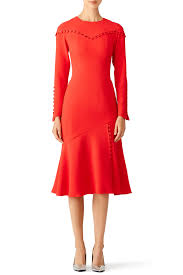 Jcpenney Wedding Guest Dresses Cherry Red Button Up Dress By Prabal Gurung For 275 Rent The Runway