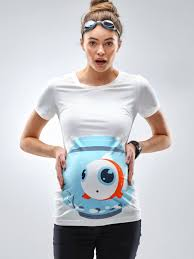 Halloween Maternity Shirts Fish Bowl Funny Maternity Shirt Mamagama Pregnancy Tshirt