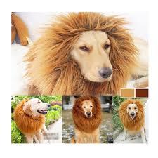 halloween lion costumes pet lion costume fancy dress up halloween clothes mane wig