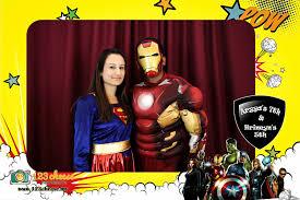 Superhero Photo Booth Aryya U0027s 7th U0026 Hrineyn U0027s 5th Birthday Party Birthday Photo Booth