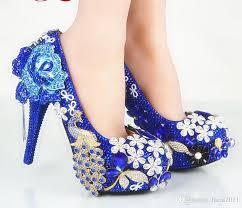 Wedding Shoes Blue Discount Blue Diamond Wedding Shoes Flat 2017 Blue Diamond