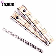 personalized chopsticks cakehoud 5 pair portable creative stainless steel korean