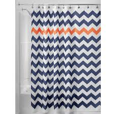Amazon Shower Curtains Amazon Com Interdesign Chevron Soft Fabric Shower Curtain 72