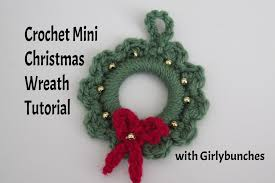 crochet mini wreath tutorial girlybunches