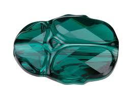 swarovski 5728 12mm scarab bead emerald artbeads