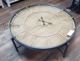 Clock Coffee Table Clock Coffee Table With Working The Furniture Company