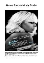 atomic blonde 2017 movie trailer best free movies online www movi u2026
