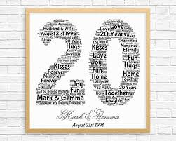 20 anniversary gift the 25 best 20th anniversary gifts ideas on 20th