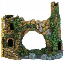 water works mountain castle aquarium castle ornament 7 5 x 20 x