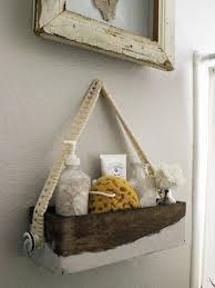 make chic bath caddy for guests hgtv rustic bath caddy offers convenience