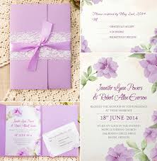 lavender wedding invitations how to assemble your wedding invitations with pockets