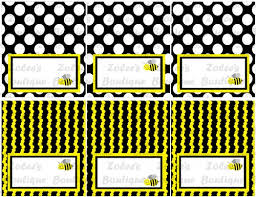 bumblebee decorations printable party decorations yellow bumble bee zoleesboutique