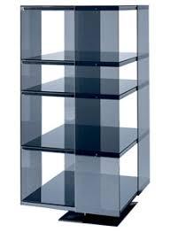 glas italia omnibus modern glass shelving unit stardust