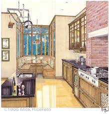 Hand Rendered Floor Plan by Hand Rendering Mick Ricereto Interior Product Design
