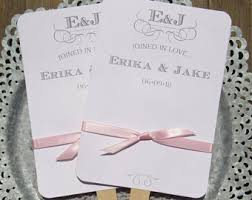 personalized fans for weddings wedding fans etsy