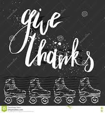 give thanks quote handwritten lettering for thanksgiving day card