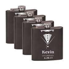 his and hers flasks tuxedo flask groomsmen gift set 4 significat online store