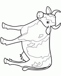 simple cow outline coloring pages for kidsfree coloring pages for