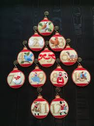 12 days of christmas ornaments canvas by kirk u0026 bradley great